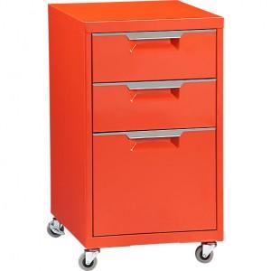 tps mobile file by CB2 in orange.  sc 1 st  Smarter Home Office & Home Office Design | Mobile File Cabinet Tips | Smarter Home Office