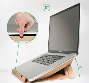 Laptop Stand Made Of Pizza Box
