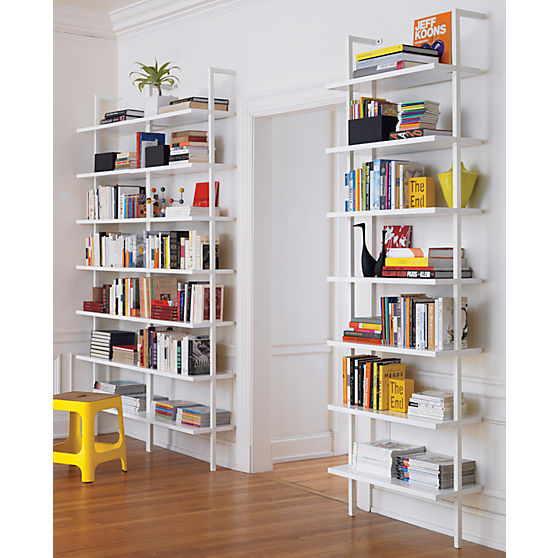Home Office Bookcases Sleek Design Clears Baseboards